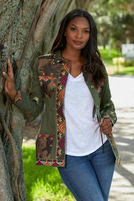 Camo Embroidered Utility Jacket