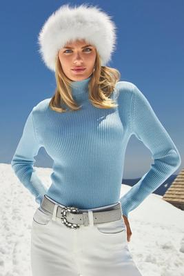 Display product reviews for Beyond Basics Ribbed Turtleneck Sweater
