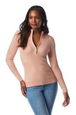 Beyond Basics Ribbed Half Zip-Up Sweater