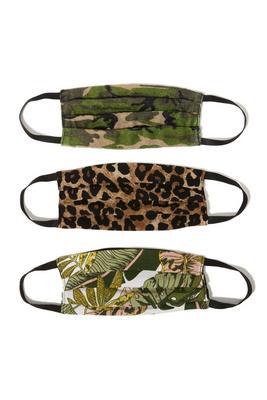 Exotic Safari Fashion Mask 3-Pack