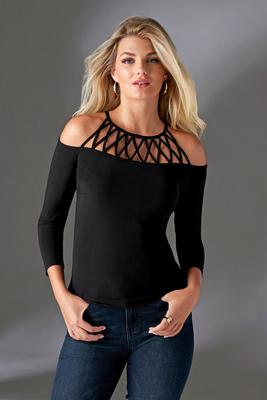 Strappy Cold-Shoulder Top