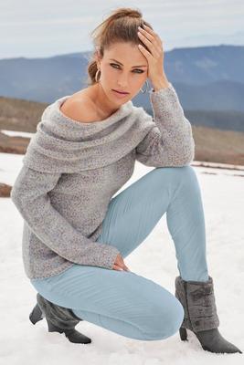 Marled Off-The-Shoulder Sweater