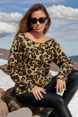 Display product reviews for Leopard Slouchy Sweater