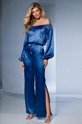 charm off-the-shoulder jumpsuit