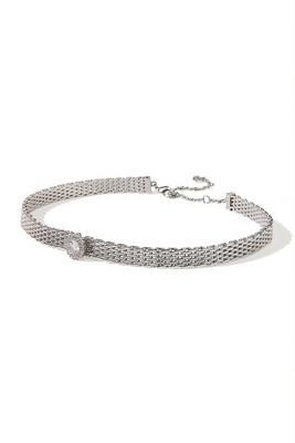 embellished chain choker