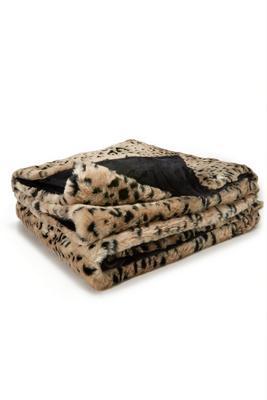 Leopard Faux-Fur Throw