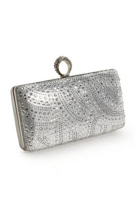 embellished ring clutch