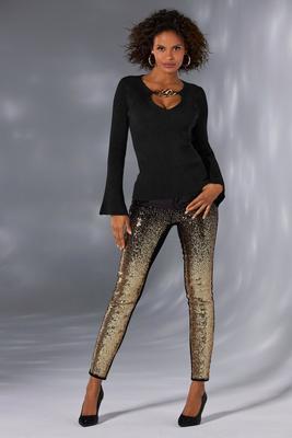 Ombre Sequin Jean