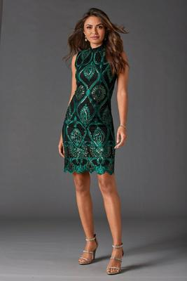 Display product reviews for Embroidered and Embellished Sheath Dress