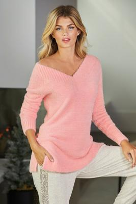 Display product reviews for V-Neck Cozy Sweater