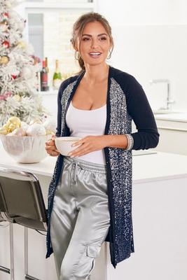 Sequin Ombre Cardigan Sweater