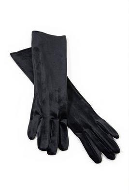 velvet evening gloves