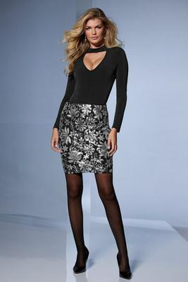 Sequin-Detailed Above-The-Knee Skirt