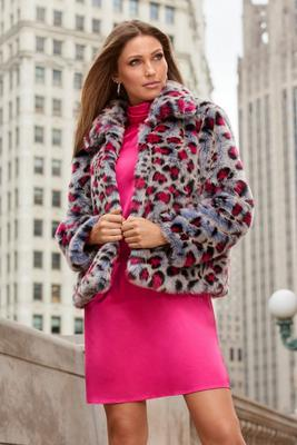 Multi-Color Leopard Faux-Fur Chubby
