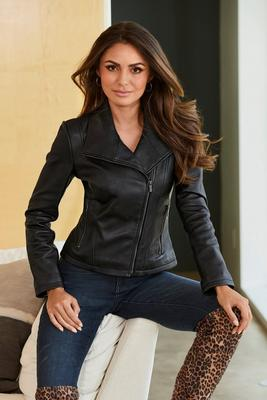 Collared Moto Jacket