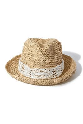 crochet trim fedora hat