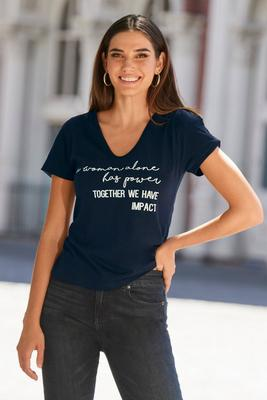 Women Together Cold-Shoulder Tee