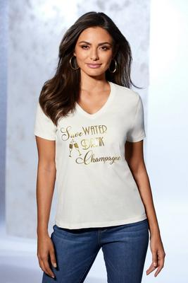 Save Water Drink Champagne V-Neck Tee