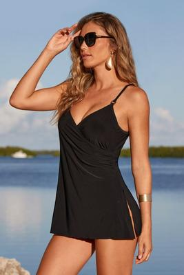 Versatile V-Neck Swim Dress