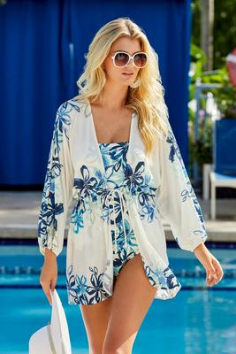 Printed Floral Cover Up