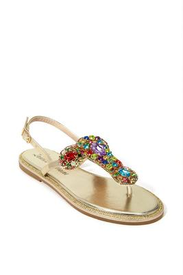 Crystal Back Strap Sandal