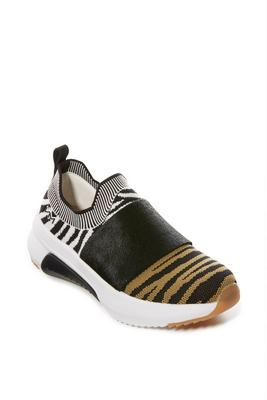 tiger print sporty knit sneaker