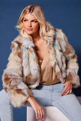 Multi Color Pastel Faux Fur Chubby