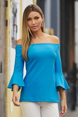 Beyond Travel Off-The-Shoulder Top