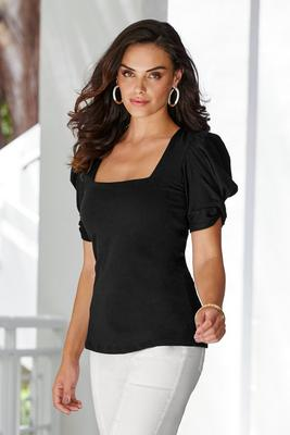 Display product reviews for So Easy Square Neck Puff Sleeve Top