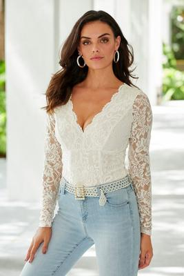 Lace Scallop Bodysuit