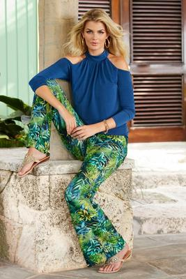 Display product reviews for Modern Jungle Print Palazzo Pant