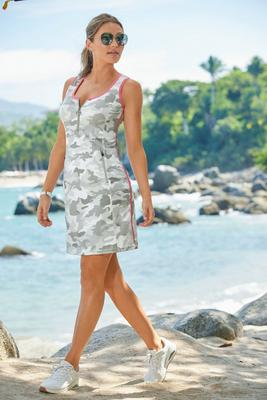 B-Active Camo-Trimmed Sport Dress