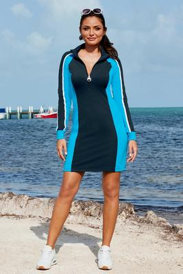 B-Active Color Block Zip Sport Dress