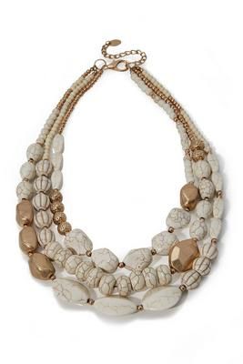 Natural Stone Layered Necklace