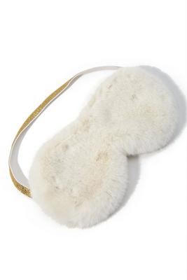 Faux-Fur Lounge Eye Mask