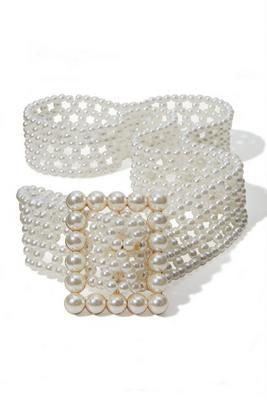 Display product reviews for Allover Pearl Belt