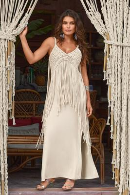 Display product reviews for Boho Fringe Maxi Dress