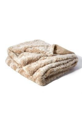 Textured Faux-Fur Throw