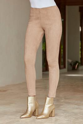 Faux-Suede Pull On Legging