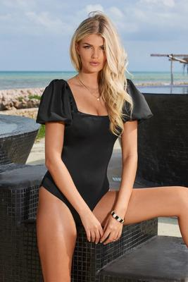 Palma Papier Puff-Sleeve One-Piece Swimsuit