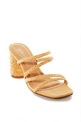 Raffia Strappy Heel