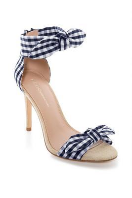 Gingham Bow Heel