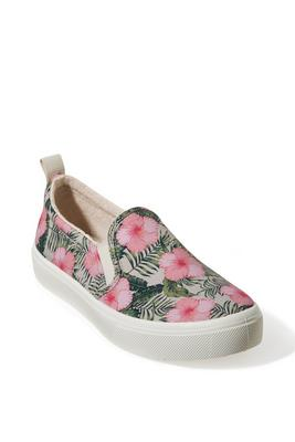 Display product reviews for Tropical Floral Printed Slip-On Sneaker