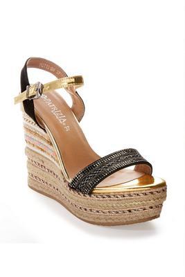 Embellished Detail Wedge Sandal