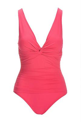 Over-The-Shoulder Twist-Front Mio One-Piece Swimsuit