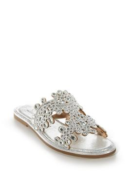 Crystal Embellished Slip-On Sandal