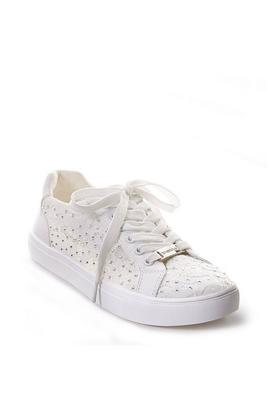 Lace Embellished Lace-Up Sneaker