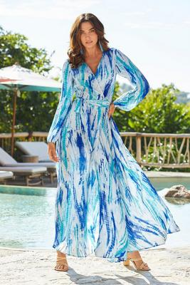 Tie-Dye Wrap Dress