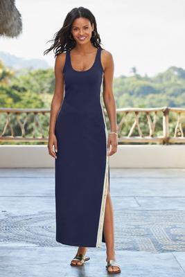 Metallic Track Stripe Dress