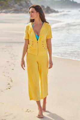 Display product reviews for Terry Grommet Short-Sleeve Warm-Up Set